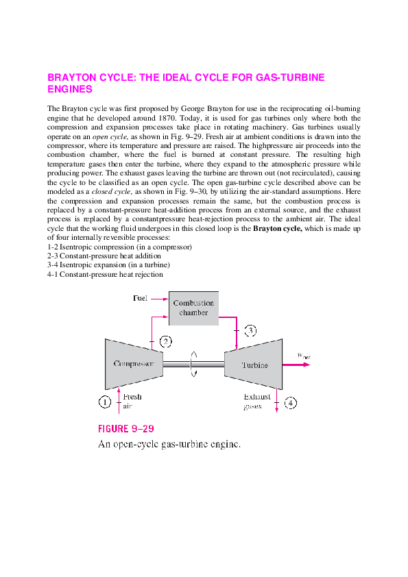 PDF) BRAYTON CYCLE: THE IDEAL CYCLE FOR GAS-TURBINE ENGINES