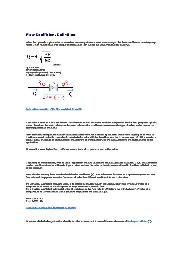 DOC) Flow Coefficient Definition | Moganna Gowda - Academia edu
