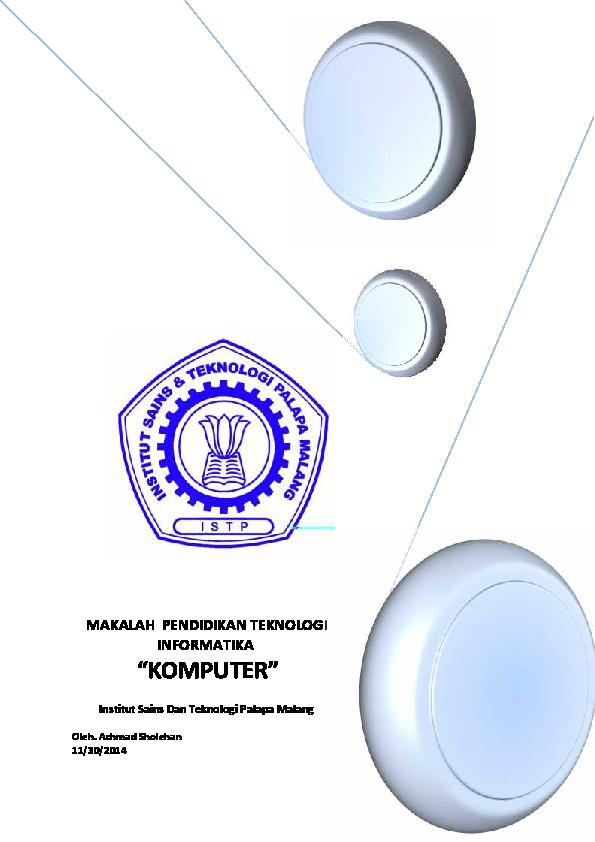 Pdf Makalah Pendidikan Teknologi Informatika Komputer Achmad Sholehan Academia Edu