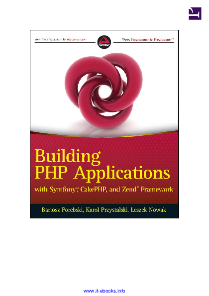 PDF) Building PHP Applications with Symfony Cake PHP and Zend