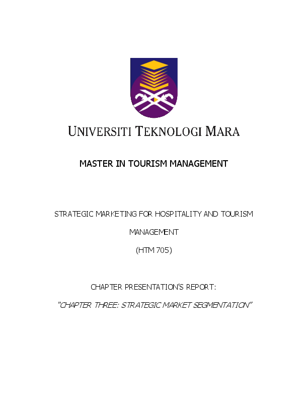 hospitality and tourism marketing strategies pdf