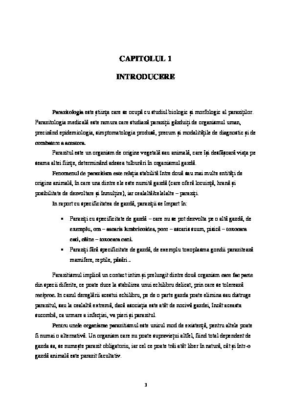 capitolul specific bolii giardiei