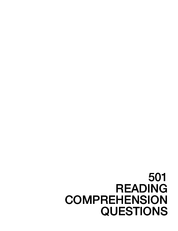 PDF) 501 READING COMPREHENSION QUESTIONS | Erli Hidayaty - Academia edu