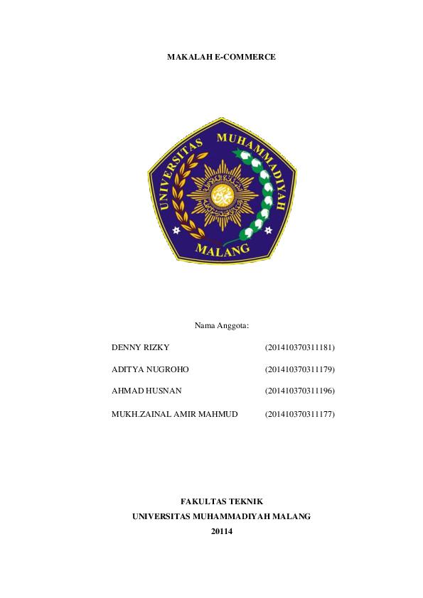 Doc Makalah E Commerce Nama Anggota Zainal Amir Academia Edu