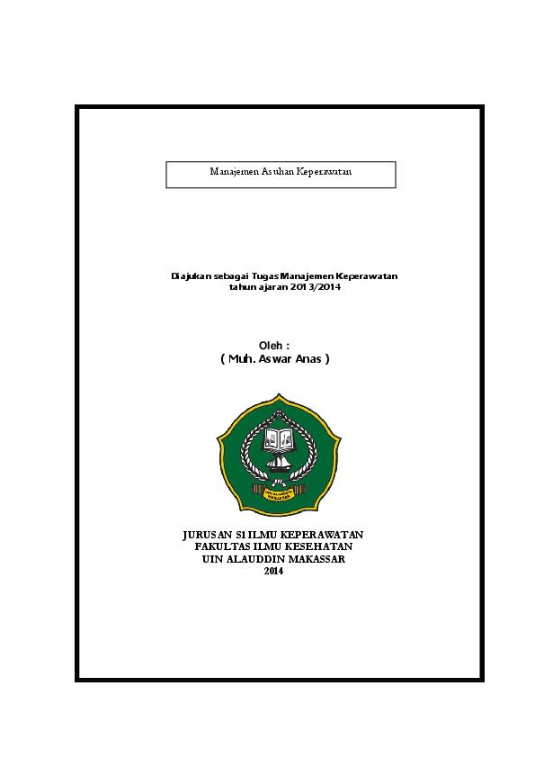 Pdf Jurnal Manajemen Askep Muh Aswar Anas Academia Edu
