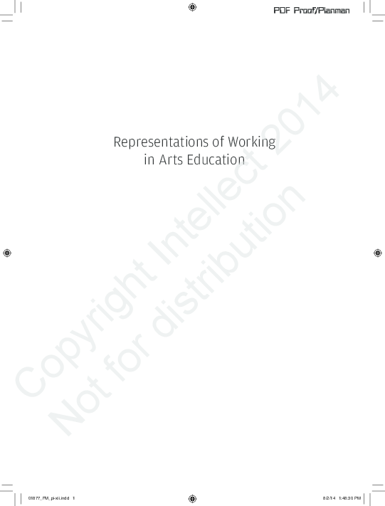 PDF) Representations of Working in Arts Education | Narelle