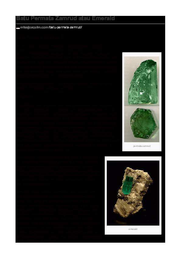 PDF) zamrud | MutiaraLombok MissJoaquimPearls - Academia edu