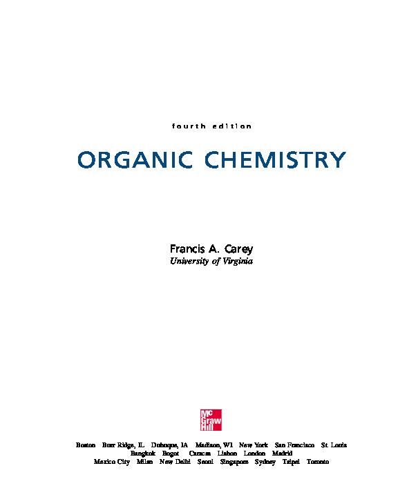Pdf Organic Chemistry 4th Ed Francis A Carey Erika Widiarini