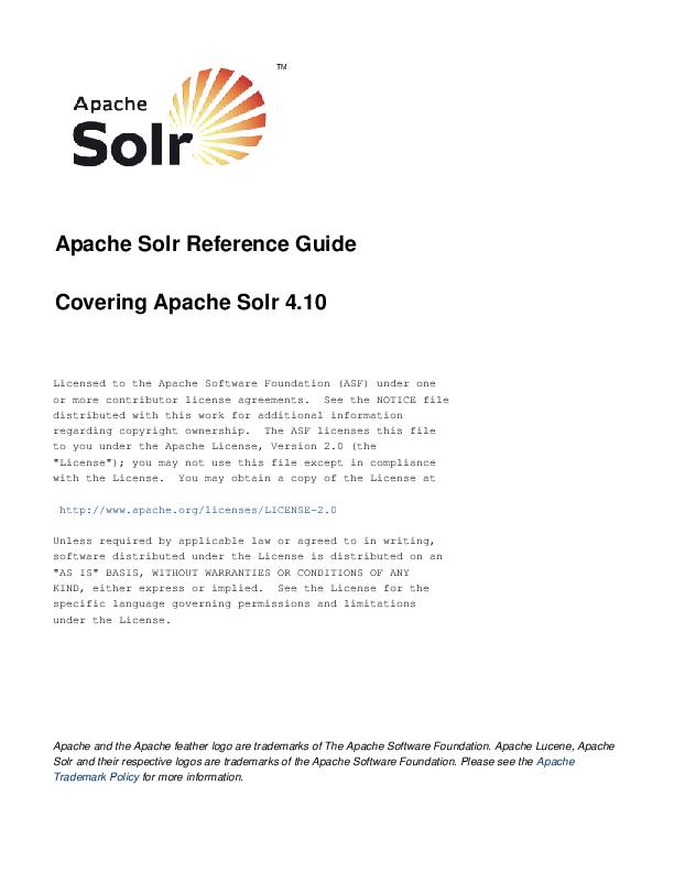 PDF) Apache Solr Reference Guide | Dongwoo Kim - Academia edu