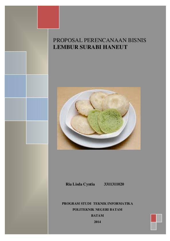 Contoh Proposal Usaha Makanan Tradisional Serabi Berbagi Contoh Proposal