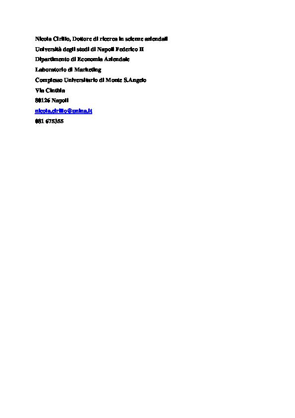 92f9c1a3717d PDF) L'evoluzione del coinvolgimento del cliente nei processi di ...