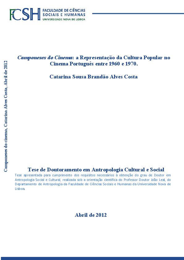 Camponeses do Cinema  a Representação da Cultura Popular no Cinema ... 5a9c514307d7c