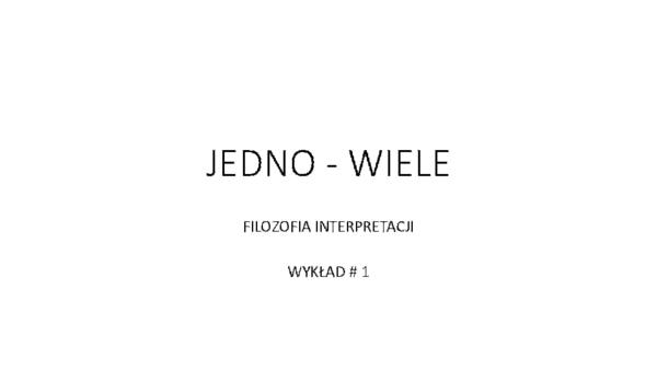 Pdf Filozofia Interpretacji Rok Akademicki 20142015