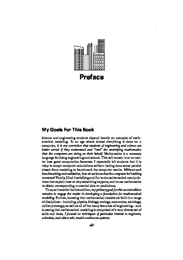 Pdf Principles Of Mathematical Modeling 2nd Ed Christian Perez Academia Edu