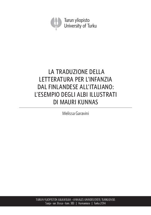 Pdf La Traduzione Della Letteratura Per L Infanzia Dal Finlandese