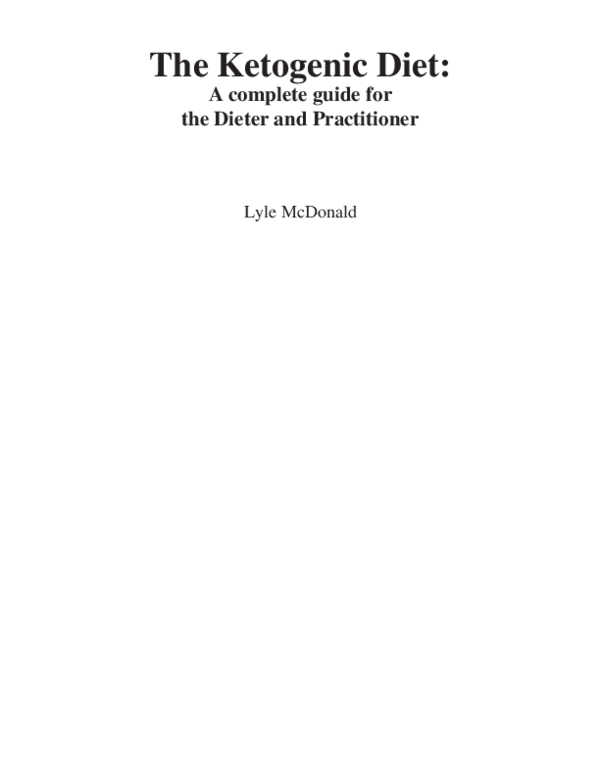 mcdonalds ketogenic diet pdf