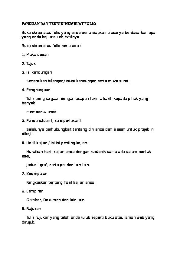 contoh pendahuluan folio sejarah