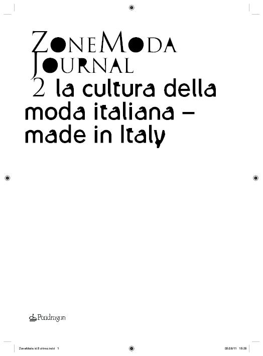 ZoneModa Journal 2 2011 Made in Italy  b0ce2bc41600