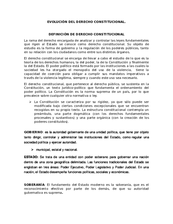 Doc Evolución Del Derecho Constitucional Fredd Nikolaz