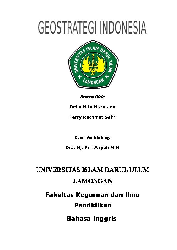 Doc Makalah Pkn Geostrategi Di Indonesia Semester I Herry Potter Academia Edu