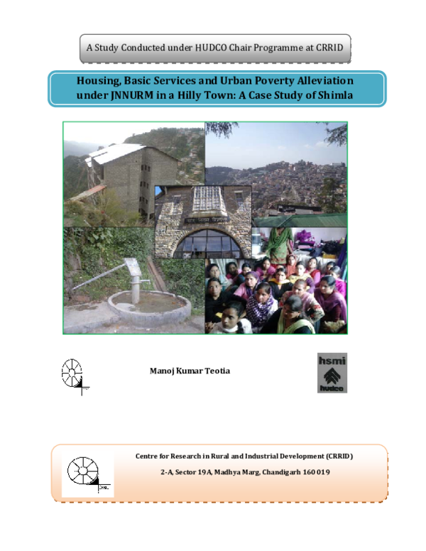 PDF) Housing, Basic Services and Urban Poverty Alleviation under