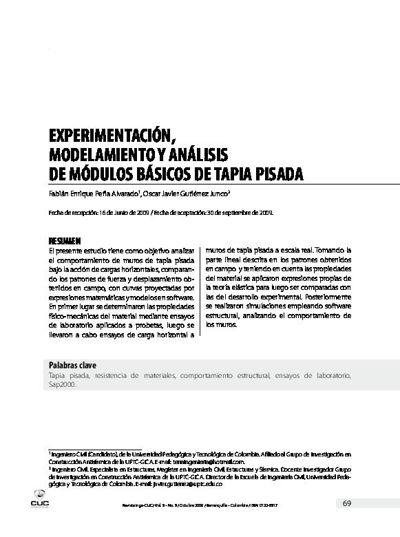 Pdf Experimentación Modelamiento Y Análisis De Módulos