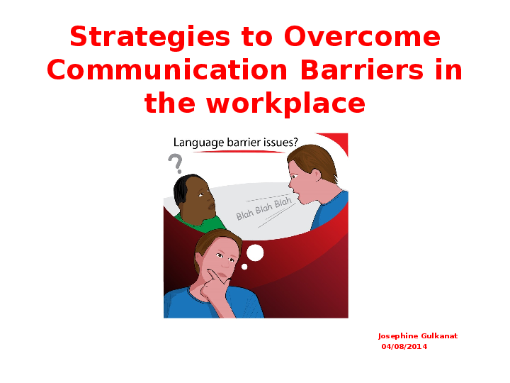PPT) Strategies to Overcome Communication Barriers in the
