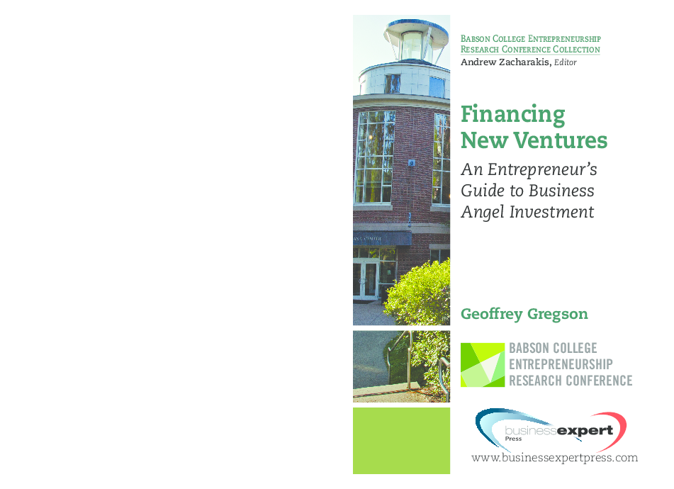 PDF) Financing New Ventures: An Entrepreneur's Guide to Business