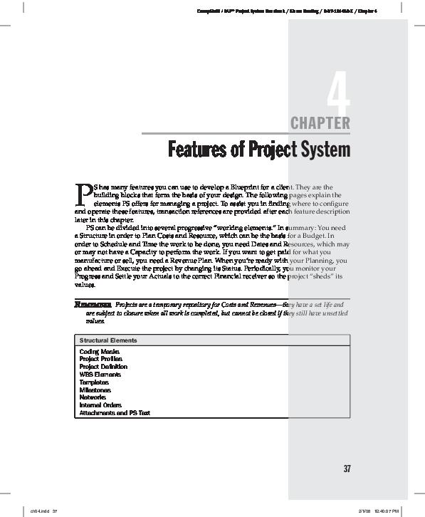 PDF) CompRef8 / SAP® Project System Handbook / Kieron