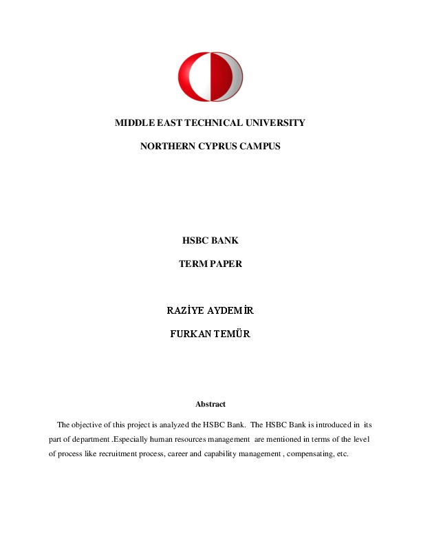 PDF) HSBC bank's management structure | Furkan Temur - Academia edu