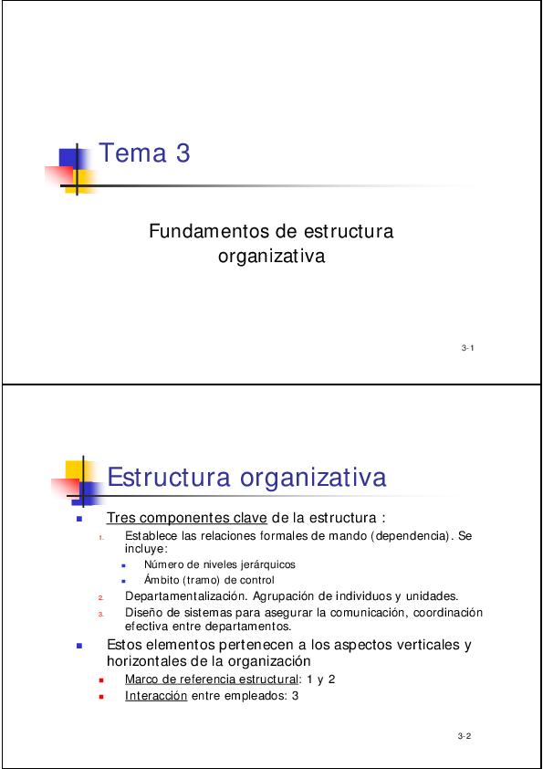 Pdf La Estructura Organizativa Se Refleja En El Organigrama