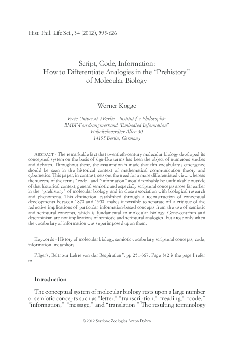 PDF) Script, Code, Information: How to Differentiate
