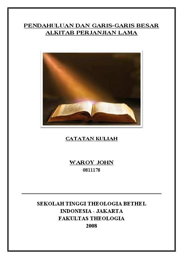 Tafsiran Alkitab Perjanjian Baru Pdf