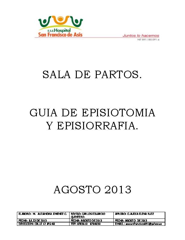 Pdf Guia De Episiotomia Y Episiorrafia 2013 Samuel Olivares Academia Edu
