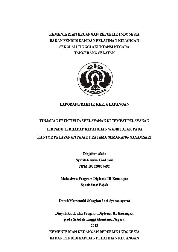 Doc Contoh Laporan Pkl 1 Oggy Aldhian Academia Edu