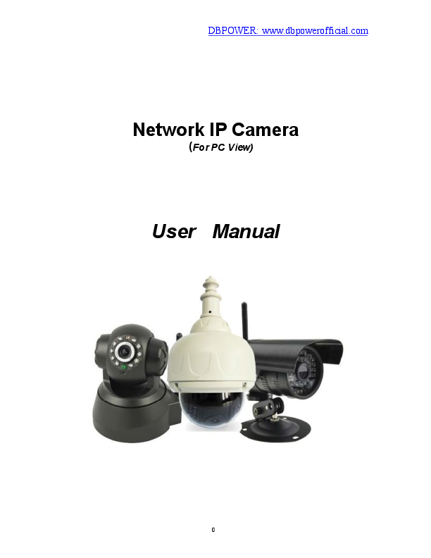 PDF) User Manual of DBPOWER IP Camera140701 | Karla Guillen