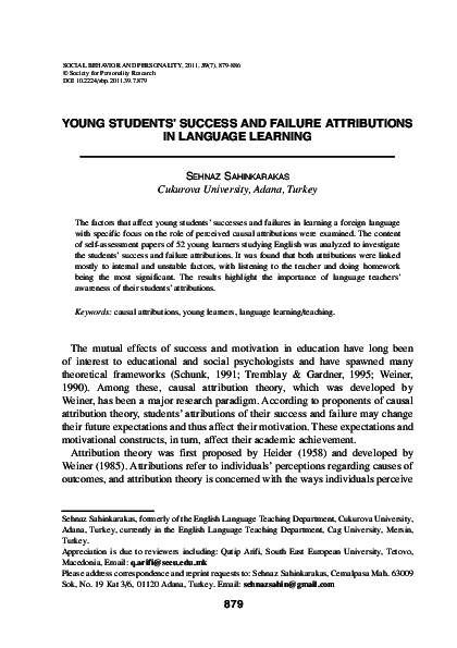 young students success and failure