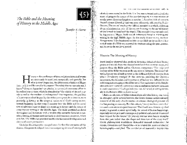 PDF) Bible and the Meaning of History | Jennifer A Harris - Academia.edu