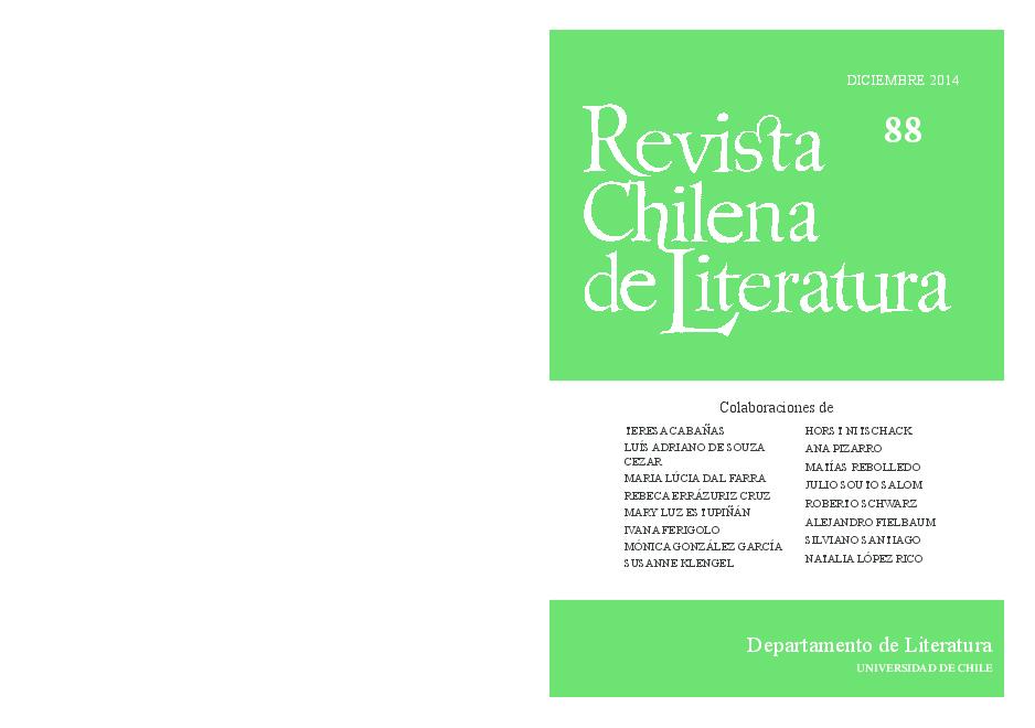 Pdf Revista Chilena De Literatura 88 Silviano Santiago