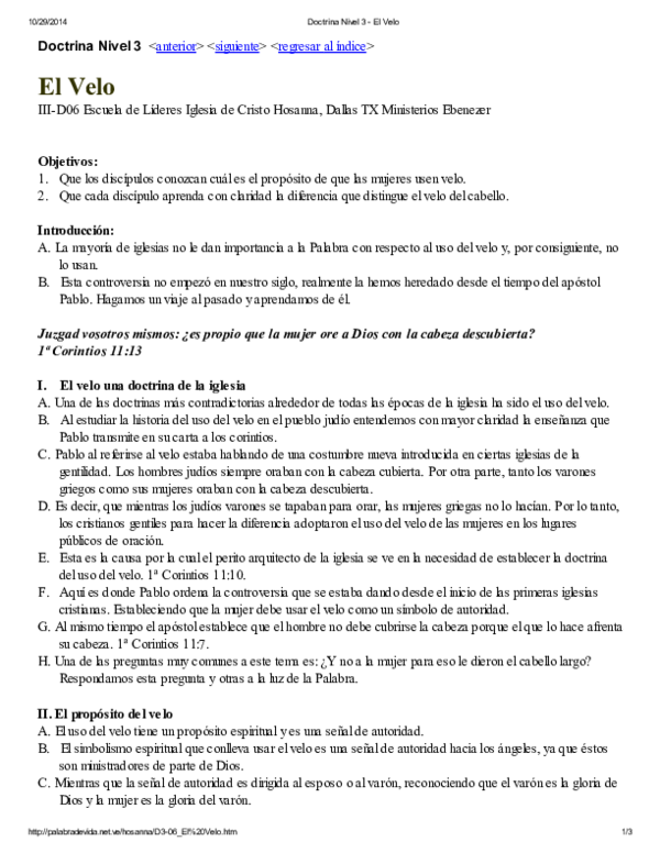 PDF) Doctrina Nivel 3 - El Velo   Marta Perez - Academia edu