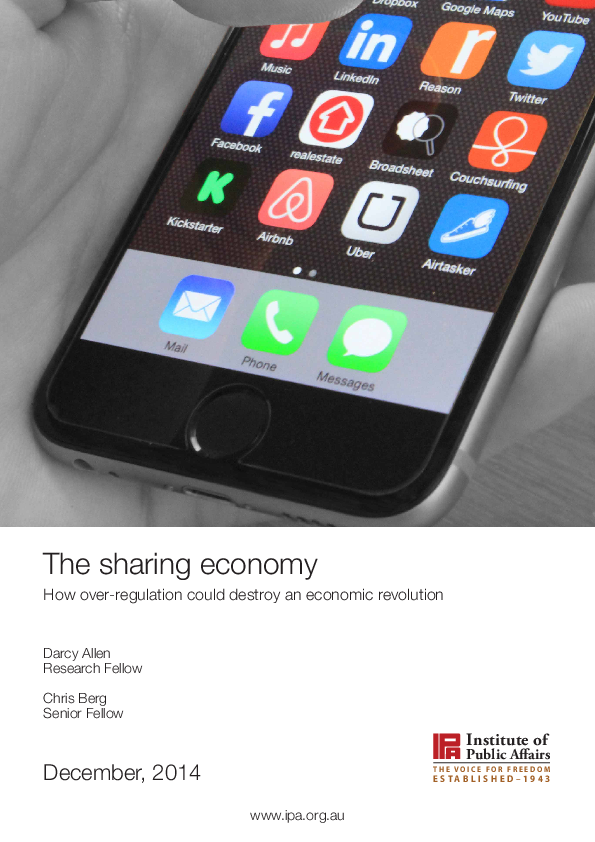PDF) The sharing economy: How over-regulation could destroy an