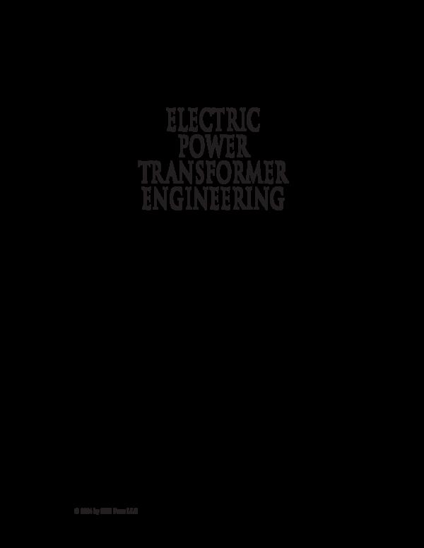 Pdf Electric Power Transformer Engineering Deyvi Cotrina Academia Edu