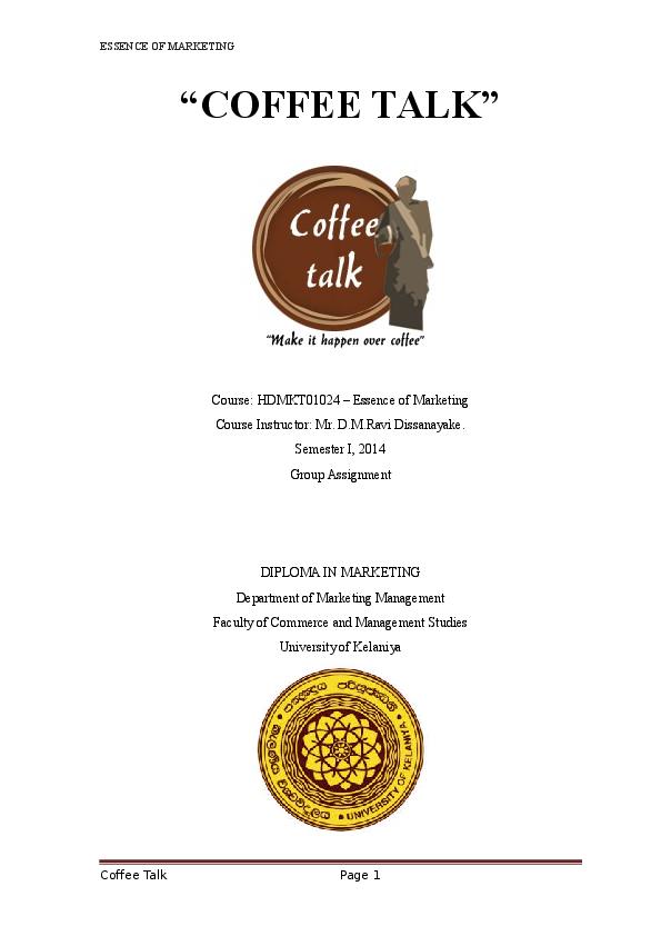 DOC) Coffee Talk new coffee shop | Suranga Kumara - Academia edu