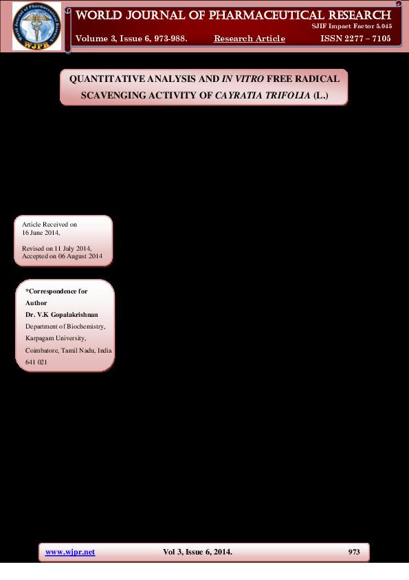 free radical research journal impact factor