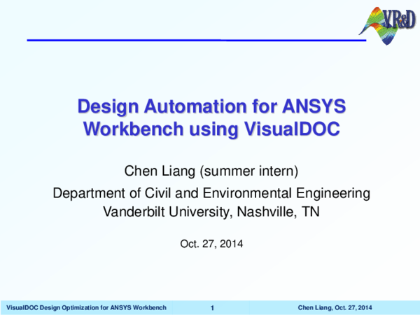 PDF) Design Automation for ANSYS Workbench using VisualDOC | Chen