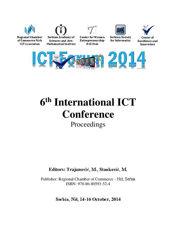 PDF) Proceedings of 6th International ICT Conference   Milan