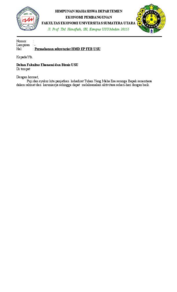 Doc Surat Permohonan Sekret Jaka Fadillah Academiaedu
