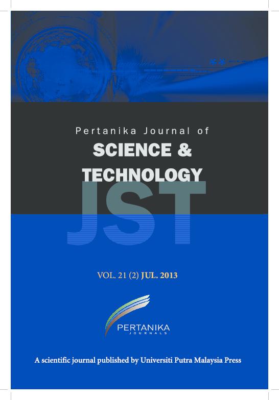 Pdf Journal Of Science Technology Journal Of Sciences Technology Iylia Elena Abdul Jamil Forruq Rahman Supranto Supranto And Indubhushan Patnaikuni Academia Edu