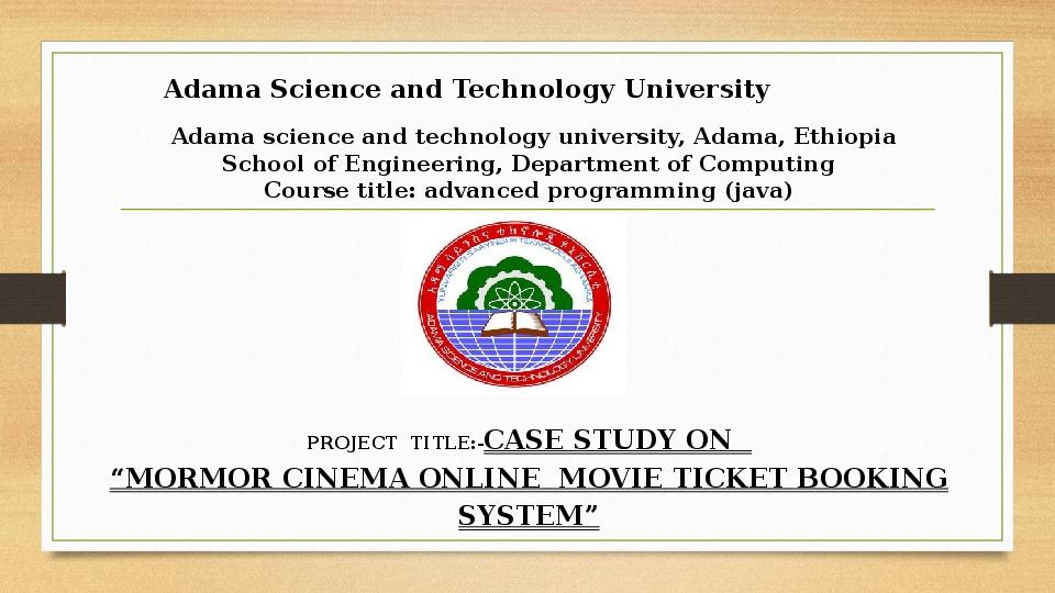 PPT) online cinema movies booking management system | Henok
