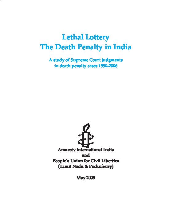 PDF) Lethal Lottery: the death penalty in India | Bikramjeet